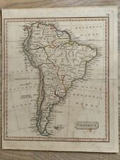 1826 SOUTH AMERICA HAND COLOURED ANTIQUE MAP BY JOHN CARY 194 YEARS OLD