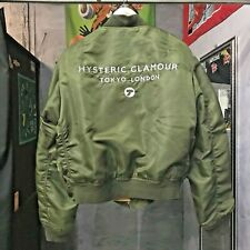 Vintage HYSTERIC GLAMOUR Tokyo London Embrodiered Logo Bomber Jacket MA-1 M