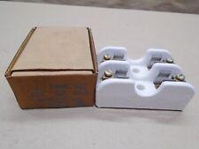 New Vintage Leviton 8904 Ceramic Cartridge Fuse Holder 250 Volt 60 Amp 2 Pole