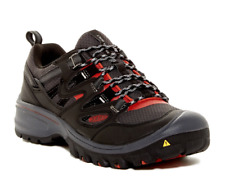 KEEN Sandstone Low Hiking Camping Trail Shoes Sneakers Sz 9 M Black Red $130