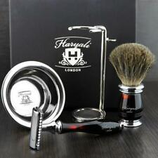 Luxury Complete Grooming Shaving Set with Free Blades   DE Safety Razor & Brush