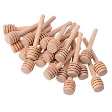 24Pcs Wooden Mini Jam Honey Dipper Jar Dispensing Collecting Stirring Rod Stick