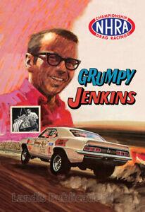 Grumpy Jenkins 1971 NHRA Drag Racing Poster