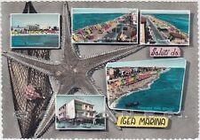RIMINI BELLARIA IGEA MARINA 34 SALUTI da... Cartolina FOTOGRAFICA viaggiata 1960