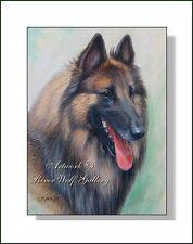 Regal Belgian Shepherd Red Tervuren Dog Headstudy OE Art Print CMOAR Berger