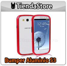 BUMPER Funda Carcasa compatible samsung GALAXY S3 ALUMINIO IONIZADO ROJO