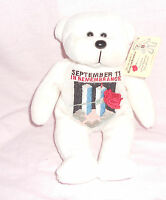 2002 Plushland White Bear September 11 In Remembrance w/Tags