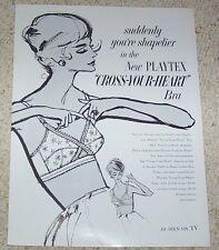 1968 ad page - Playtex Cross Your Heart Bra lingerie art artwork PRINT ADVERT