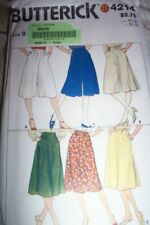 BUTTERICK SKIRT CULOTTES SEWING PATTERN 4214 MISSES SIZE 8