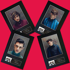 More details for union j all 4 members autograph mounted photo print a4 quality repro print
