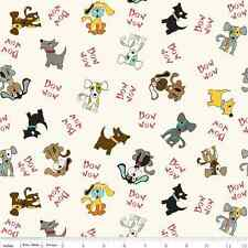 Puppy Park Dogs Cream by Bella Blvd. for Riley Blake, 1/2 yd 100% cotton fabric