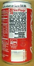COCA-COLA 1995 SIX FLAGS GREAT ADVENTURE Coke Soda CAN 1/1+