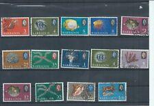 Barbados stamps. 1965 & 1966 Marine life used lot.  (J968)