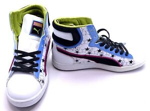 Puma Shoes First Round Stars Blast White/Black/Blue Sneakers Womens 6.5