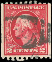US Scott #442 Used Coil Stamp, Perf 10 Horizontal, SCV $45.00
