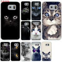 Samsung Galaxy S8 S9 Plus S7 S6 Edge Cat Cover Mobile Phone Case Print Soft TPU