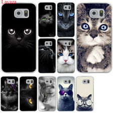 Para Samsung Galaxy S8 S9 Plus S7 S6 Cubierta De Gato De Borde Teléfono móvil Estuche Duro de impresión