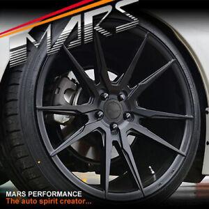 MARS MP-RH Black 19 Inch Concave Stag Wheels Rim 5x120 Holden VT VX VY VZ VE VF