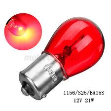 4x 1156 RED 12V 21W BA15S Light Bulb Auto Car Brake Stop Signal Turn Tail light