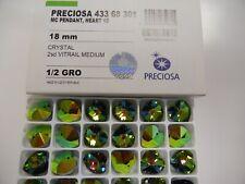 8 preciosa heartshape pendants,18mm vitrail medium 2X
