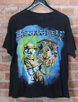 Vintage Megadeth Concert Band  Countdown  Cotton Black Men T-Shirt S-4XL YY126