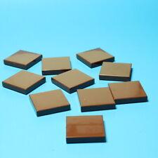 rund flach Fliese 2x2 neu NEW hellbraun 4 x LEGO 14769 Platte glatt rund