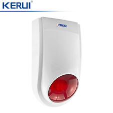 433MHz KERUI Wireless Outdoor Flash/Strobe Siren For Home Burglar Alarm system