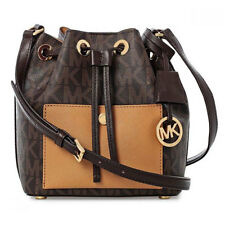 Michael Kors Bag 30H5GG1M1V MK Greenwich Small Bucket Bag Brown Peanut bcsale