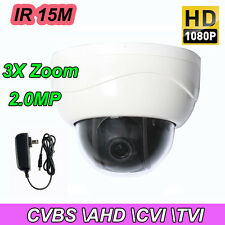 2.5'' 3X ZOOM HD 1080P 2.0MP PTZ CVBS-AHD-TVI-CVI Dome Security Camera IR Night