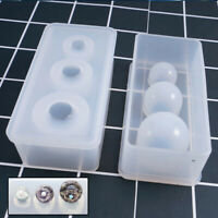 Silicone Mold Mirror Craft DIY Jewelry Making Ball UV Resin Cake Decor Mould Set