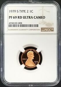 1979 S Type 2 Proof Lincoln Cent certified PF 69 RD Ultra Cameo by NGC!