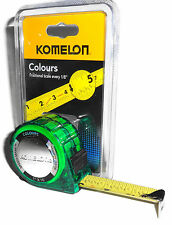 Komelon 16 Foot X 1 Inch Tape Measure Colours Green Speed-Mark Model 3516.  1209
