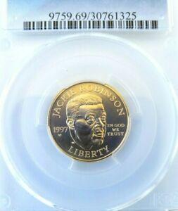 1997-W $5 Gold Jackie Robinson Commemorative PCGS MS69