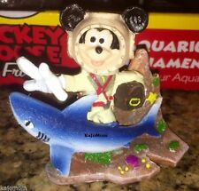MICKEY MOUSE & SHARK Aquarium Decoration Ornament Disney Fish Tank Penn Plax