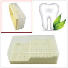 New Dental Bur Block Holder Station with Lid - Plastic Holds 168 Burs RA - FG