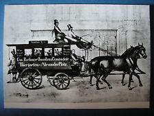 AK Ansichtskarte Postkarte Pferde Omnibus Bus BVG Berlin um 1850
