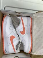 NIKE AIR FORCE 1 White / Atomic Red-Armory Slate Sz 9.5 AF-1