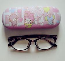 New Cute My Melody PU Leather Hard Shell Glasses Eyeglass Case Holder Box