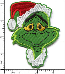 20 Pcs Embroidered Iron on patches The Grinch Christmas Santa AP054gR2