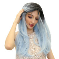 24'' Heat Resistant Long Straight Synthetic Hair Wig Cosplay Party Full Wig