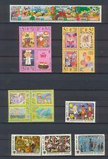 Briefmarken Comic 12 kompl. Ausgaben ( 62 Marken ) ,  Kinder , Cartoon , Märchen