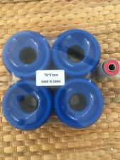Longboard Wheels 70mm 80a Dark Blue Stone Ground Contact Patch A-7 Bearings Set