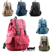 Magnetic Snap Handbags Canvas Backpacks