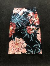 Cue Floral Pencil Skirt Size 8