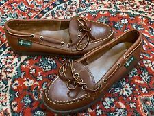 EASTLAND ACADIA BROWN LEATHER WOMENS 6 M SLIP ON 1 EYELET BOAT FLATS 501921 NEW