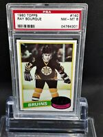 1980 Topps #140 Ray Bourque Rc - HOF - Bruins - PSA 8 - NM-MT - 04764301 - SCA