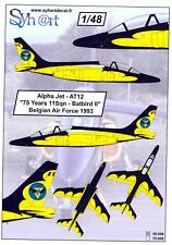 "Syhart Decals 1/48 ALPHA JET Belgian Air Force ""75 years 11 Squadron Batbird II"""