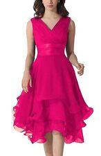 New Short Chiffon Prom Dress Bridesmaid Wedding Evening Formal Party Ball Gown