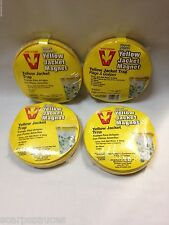 4 VICTOR WOODSTREAM DISPOSABLE OUTDOOR INSECT BUG YELLOW JACKET MAGNET BAIT TRAP