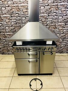 RANGEMASTER PROFESSIONAL 90 STAINLESS STEEL WITH HOOD FUL (NAT) GAS RANGE COOKER